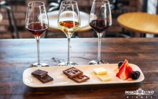 imako vino wine wine and food tasting session inside winery in macedonia