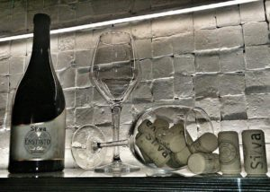 irini silva wines bottle of wine and glass for wine tasting session
