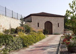 kirios de adrada amazing courtyard with flowers against building near winery