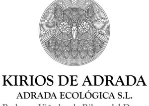 kirios de adrada amazing black and white logotype with owl and name of the winery