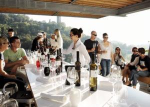Visitors on wine tasting session at Kozlovic Winery