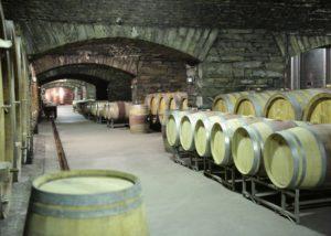 mayschoss-altenahr wooden barrels for wine aging in the cellar