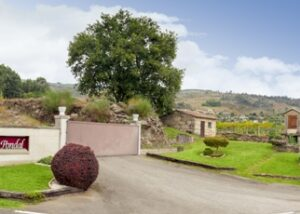 pazo pondal amazing road to the estate and winery sign in lovely spain