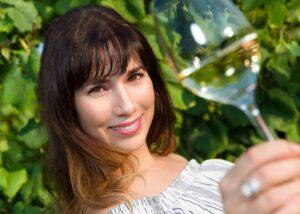 pazo pondal winemaker tasting amazing white wine on in the vineyard