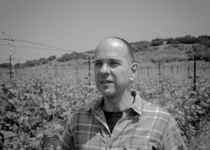 petralona winery two winemakers amid lush vineyard near winery in greece