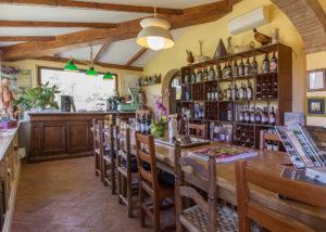 Tenuta Canto alla Moraia wine tasting space in Italy