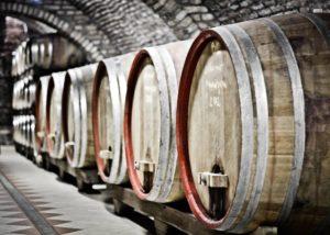 podrumi krešić large wooden barrels for wine aging in the winery