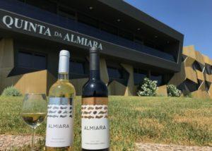 quinta da almiara two bottles of beautiful wines against estate