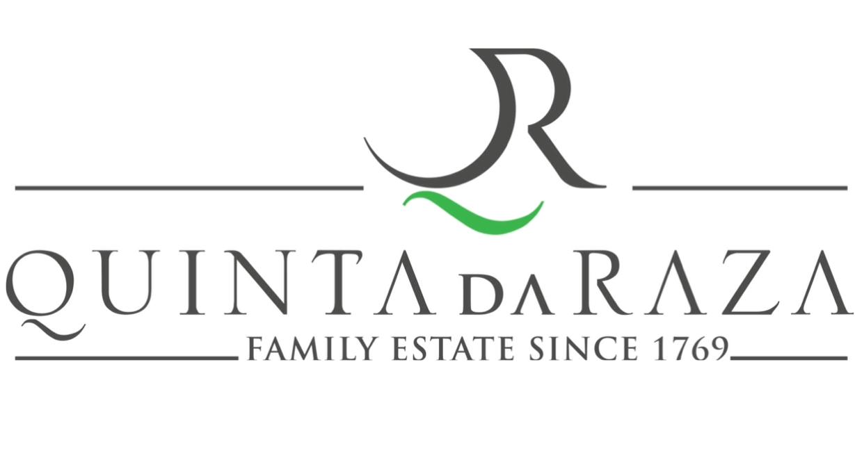 quinta da raza amazing black logotype with name of the winery