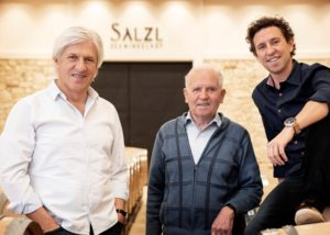 salzl seewinkelhof three owners of the winery inside estate