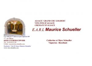 The logo at Domaine Maurice Schueller