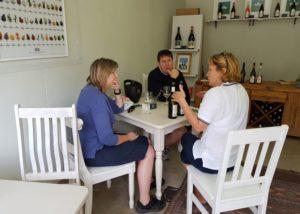 seven springs visitors tasting unique wines during wine tasting session