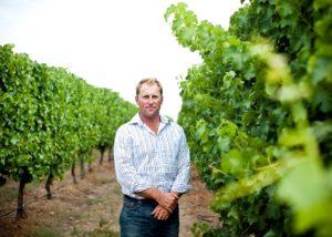 simon tolley wines winemaker amid amazing vineyards near winery in australia