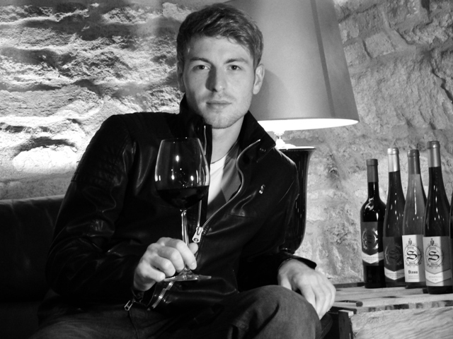 steitz black and white photo of the owner of the winery