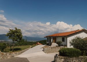 sveti martin beautiful white estate and courtyard in lovely slovenia
