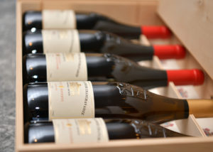 tsinandali estate many bottles with amazing wine fro the winery