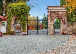 tsinandali estate stunning gates to the estate and beautiful yard