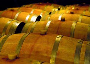 vier jahreszeiten wooden barrels for wine aging in the cellar