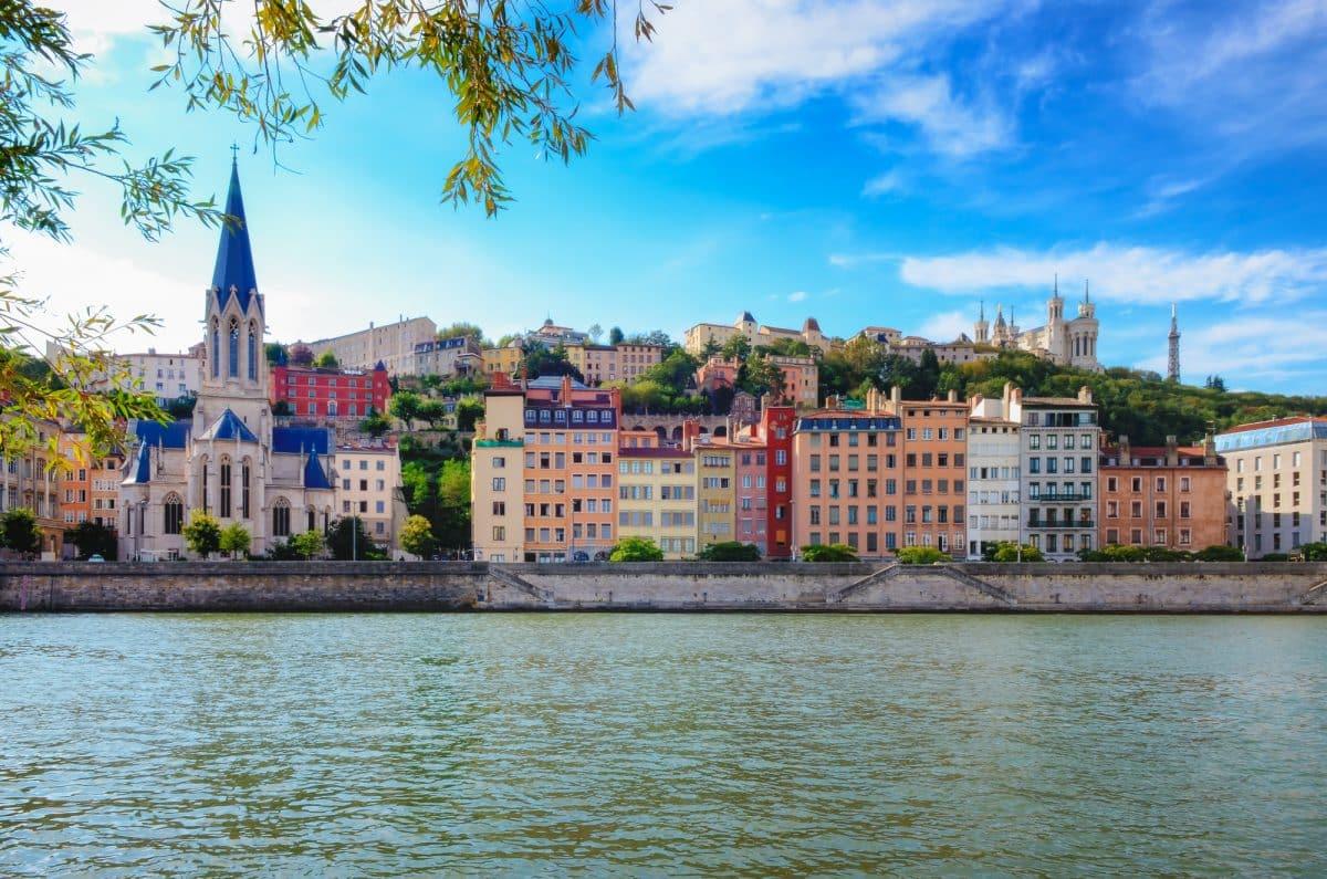 France Rhône Wine Region: Lyon City view