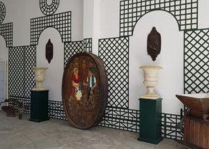vintage canes at Tenuta La Marchesa winery as décor elements