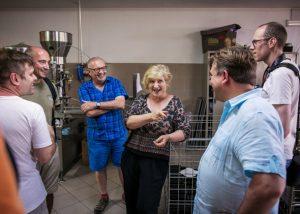 Tili Vini winery visitors talkingand tasting wines