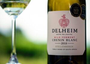 Delheim - bottle and glass