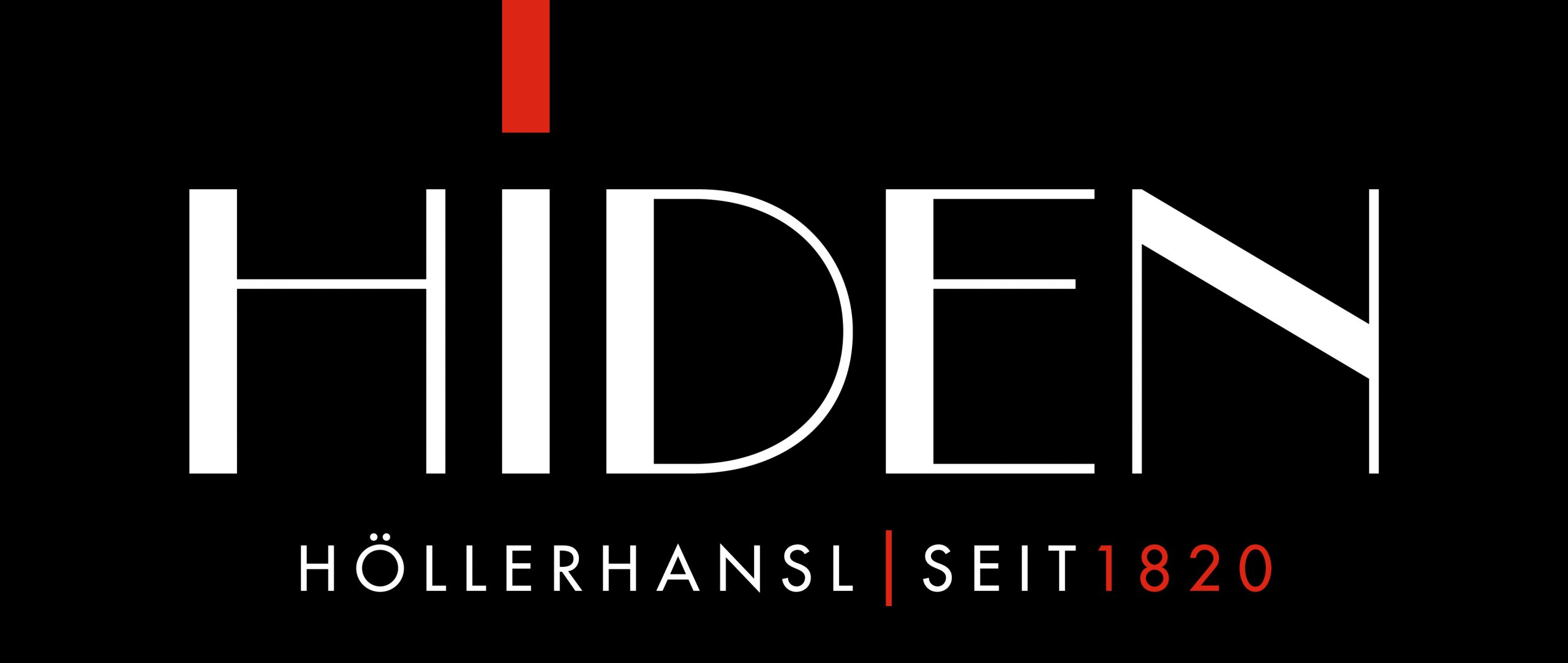 weingut hiden amazing black logotype with name of the winery