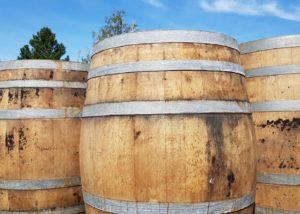 weingut norbert bauer wooden barrels for wine aging in austria