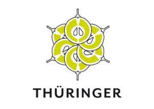 weingut thüringer beaytiful logotype with name of the winery