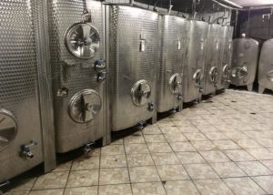 weingut thüringer large steel tanks for the wine production