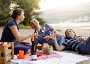 weingut werk visitors tasting delicious wines from winery