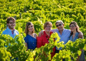 Tenuta Monte Gorna winemakers family at vineyard in Italy