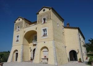 Beautiful yellow castle in the rare Capolino Perlingieri winery.