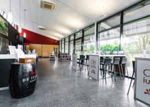 The large tasting area at De Iuliis Wines