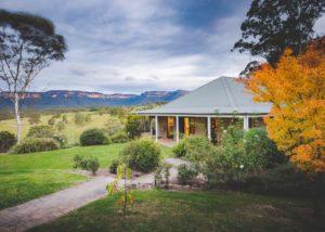 An accommodation of Dryridge Estate at sunset