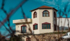 Main building of estate manolesaki winery