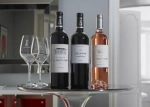 A range of wines at Château de la Dauphine in Bordeaux