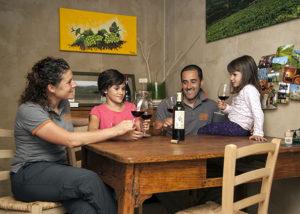 Wine tasting at AZ. AGR. TERRE DI PIETRA SAS winery