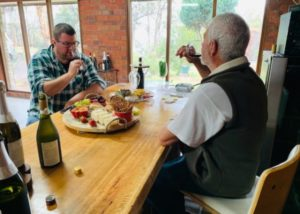 WIne tasting at Bishops Vineyard winery