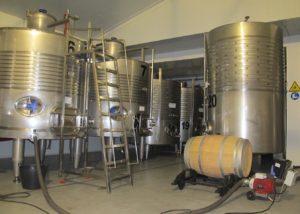 Cellar of Bodega encima wines