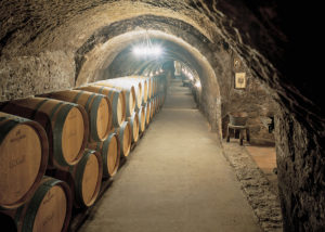 underground cellar at bodegas ismael arroyo-valsotillo