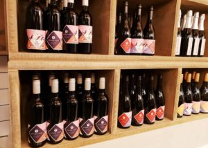 Wine shop of Brandy Creek Estate winery