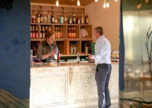 Tasting room of Brandy Creek Estate winery