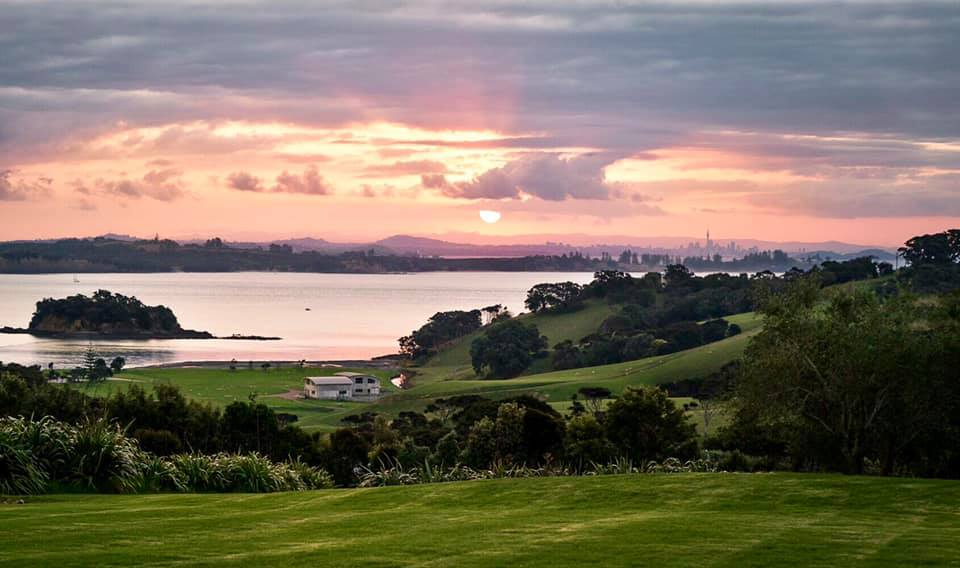 Beautiful view oh sea from the Cable Bay Vineyards winery