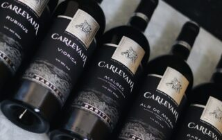 Wine bottles of Carlevana Winery
