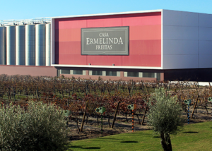 Magnificient view of the buiding of the Casa Ermelinda Freitas Vinhos winery