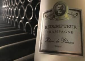 DIsplay of Champagne Remdempteur WIne Bottles