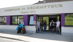 Entrance door at the CHAMPAGNE RÉDEMPTEUR winery