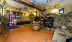 Stylish tasting room at Chateau Ateni winery