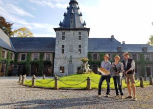Magnificient building of the Chateau de Bioul winery